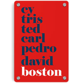 Baseball Metal Wall Art Panel - Mantra Boston