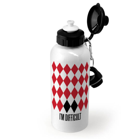 Skiing and Snowboarding 20 oz. Stainless Steel Water Bottle - I'm Difficult