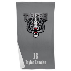 Guys Lacrosse Beach Towel Custom Lacrosse Team Logo