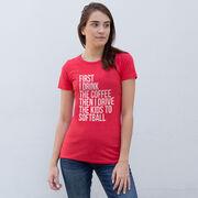 Softball Women's Everyday Tee - Then I Drive The Kids To Softball
