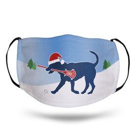 Guys Lacrosse Face Mask - Santa Dog