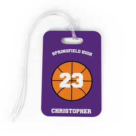 Basketball Bag/Luggage Tag - Basketball Team Ball