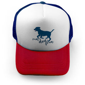 Running Trucker Hat Run Dog Run