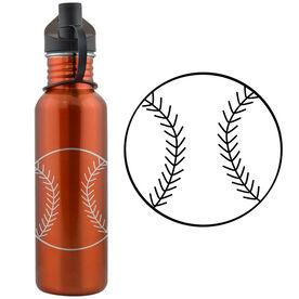 Softball Ball 24 oz Stainless Steel Water Bottle