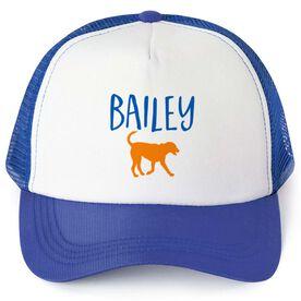 Personalized Trucker Hat - I Love My Dog