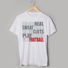 Football Tshirt Short Sleeve Bones Saying