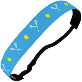 Girls Lacrosse Juliband No-Slip Headband - Crossed Lacrosse Sticks