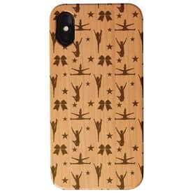 Cheerleading Engraved Wood IPhone® Case - Pattern