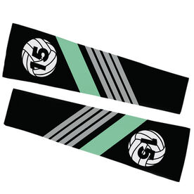 Volleyball Printed Arm Sleeves - Personalized Volleyball with Stripes