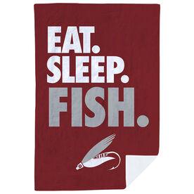 Fly Fishing Premium Blanket - Eat. Sleep. Fish. Vertical