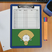 Baseball Custom Clipboard Baseball Roster And Field