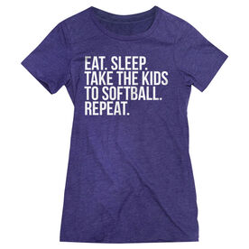 Softball Women's Everyday Tee - Eat Sleep Take The Kids To Softball