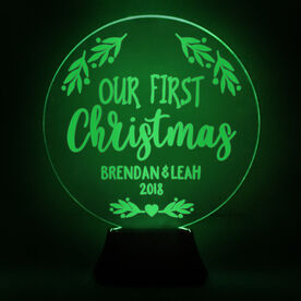 Acrylic LED Lamp - Our First Christmas