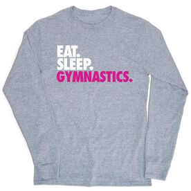 Gymnastics Tshirt Long Sleeve - Eat. Sleep. Gymnastics