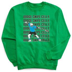 Guys Lacrosse Crew Neck Sweatshirt - Dodge Snipe Celly
