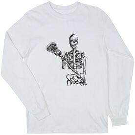 Guys Lacrosse Long Sleeve T-Shirt - Skeleton (Black)