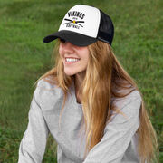 Softball Trucker Hat - Team Name With Curved Text