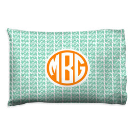 Figure Skating Pillowcase - Monogram Figure Skate Pattern
