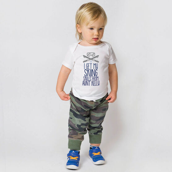 Skiing Baby T-Shirt - I Get My Skills From