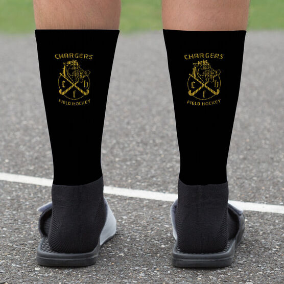 Field Hockey Printed Mid-Calf Socks - Your Logo