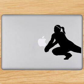 Volleyball Removable Laptop Decal Volleyball Dig Silhouette
