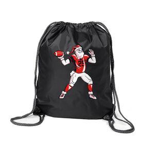 Football Sport Pack Cinch Sack - Touchdown Santa