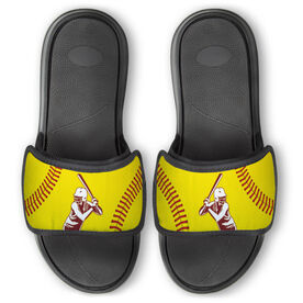 Softball Repwell® Slide Sandals - Batter Silhouette