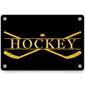 Hockey Metal Wall Art Panel - Crest