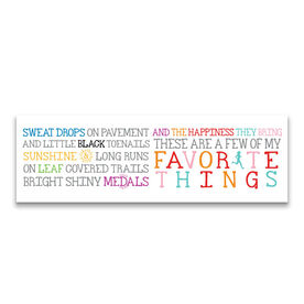 """Running 12.5"""" X 4"""" Removable Wall Tile - Favorite Things"""