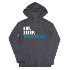 Women's Volleyball Lightweight Hoodie - Eat Sleep Volleyball