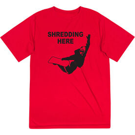 Snowboarding Short Sleeve Performance Tee - Shredding Here