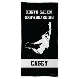 Snowboarding Beach Towel Personalized Team