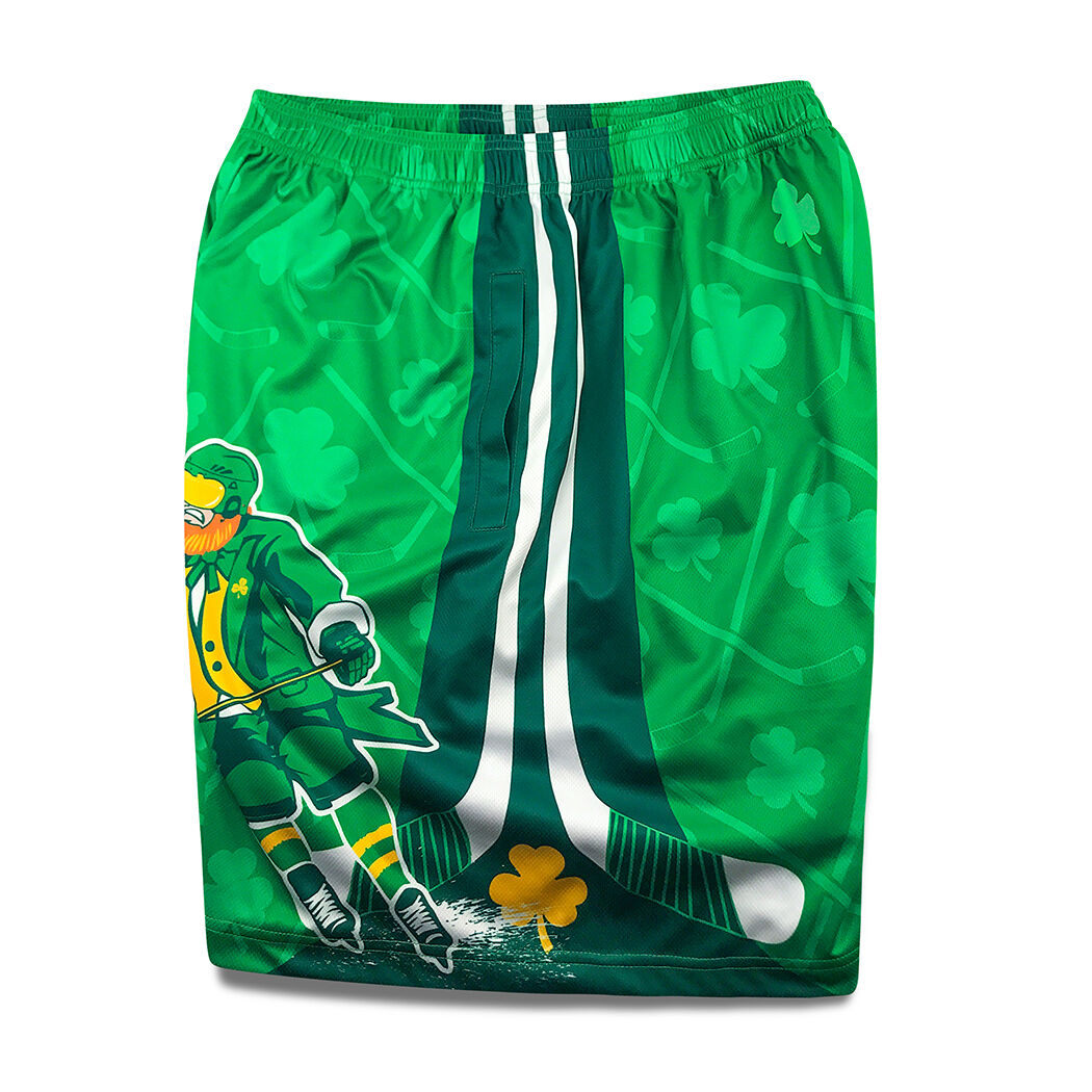 Mens Casual Swim Trunks The Luckiest St.Patricks Day Ever Clover Decorations Beach Shorts with Elastic Waist