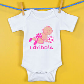 Soccer Baby One-Piece I Dribble Soccer Girl