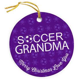 Soccer Porcelain Ornament Grandma Ball