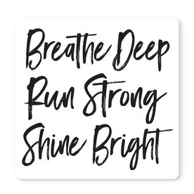 "Running 12"" X 12"" Removable Wall Tile - Breathe Deep Run Strong"