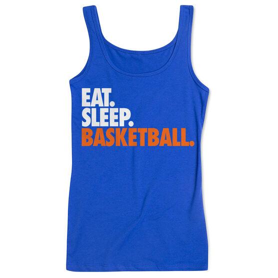 Basketball Women's Athletic Tank Top Eat. Sleep. Basketball.