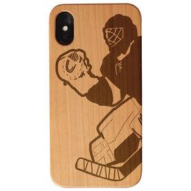 Hockey Engraved Wood IPhone® Case - Goalie