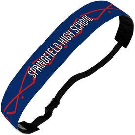 Hockey Julibands No-Slip Headbands - Personalized Crossed Sticks Stripe Pattern