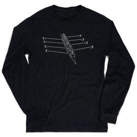 Crew Tshirt Long Sleeve - Crew Row Team Sketch