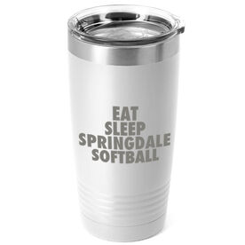 Softball 20 oz. Double Insulated Tumbler - Personalized Eat Sleep Softball
