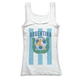 Soccer Vintage Fitted Tank Top - Argentina Soccer