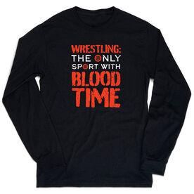 Wrestling Tshirt Long Sleeve - Blood Time