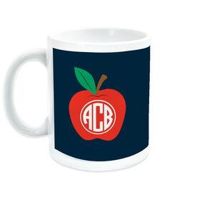 Teacher Coffee Mug - Monogram Apple