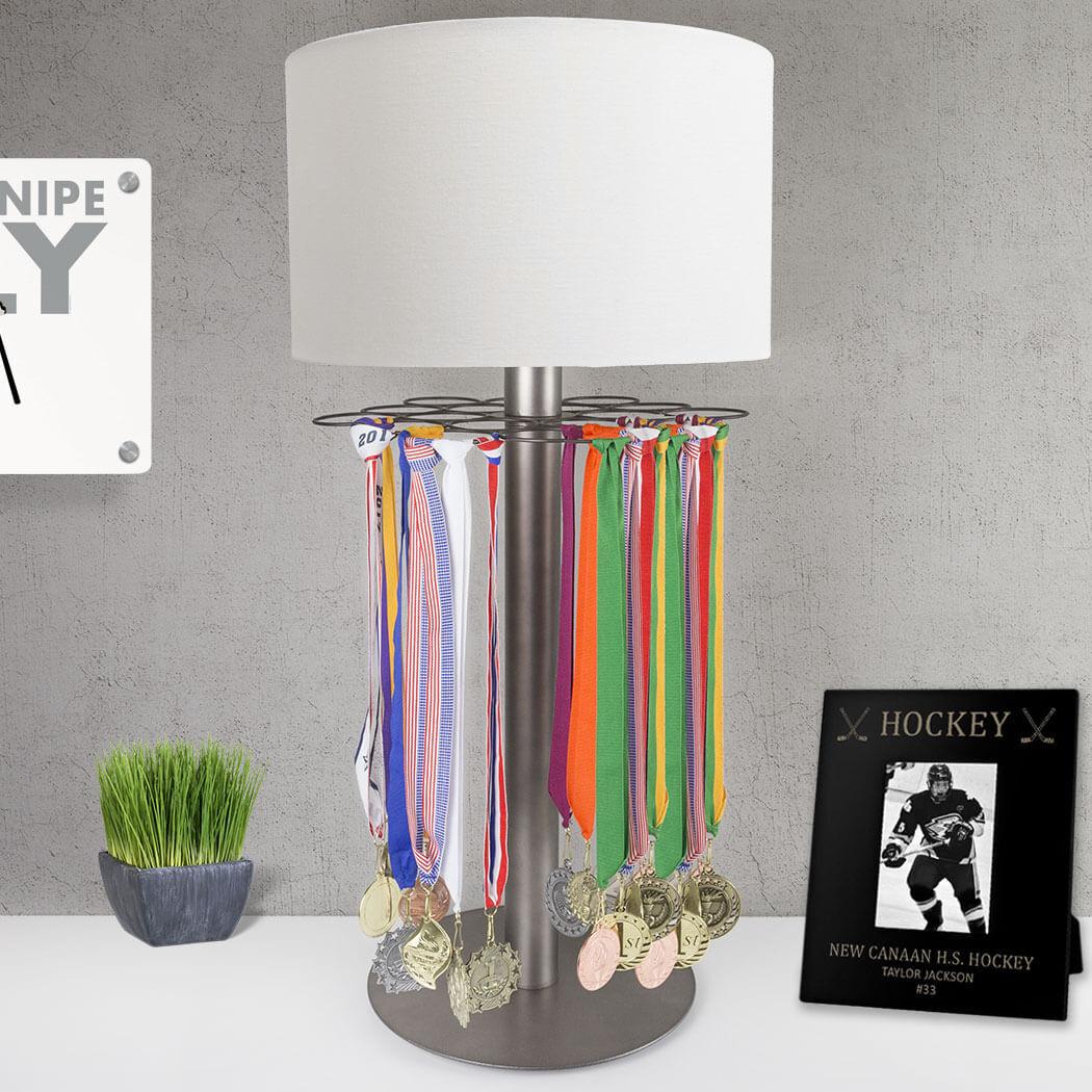 Hockey Tabletop Medal Display Lamp; Hockey Tabletop Medal Display Lamp ...
