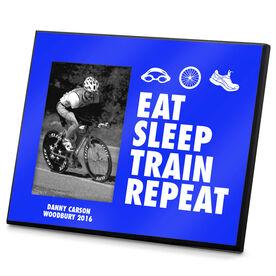 Triathlon Photo Frame Eat Sleep Train Repeat