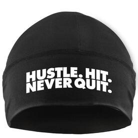 Beanie Performance Hat - Softball Hustle Hit Never Quit