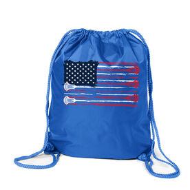Guys Lacrosse Sport Pack Cinch Sack - American Flag