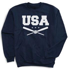 Baseball Crew Neck Sweatshirt - USA Baseball