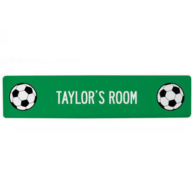 "Soccer Aluminum Room Sign - Your Room Soccer (4""x18"")"